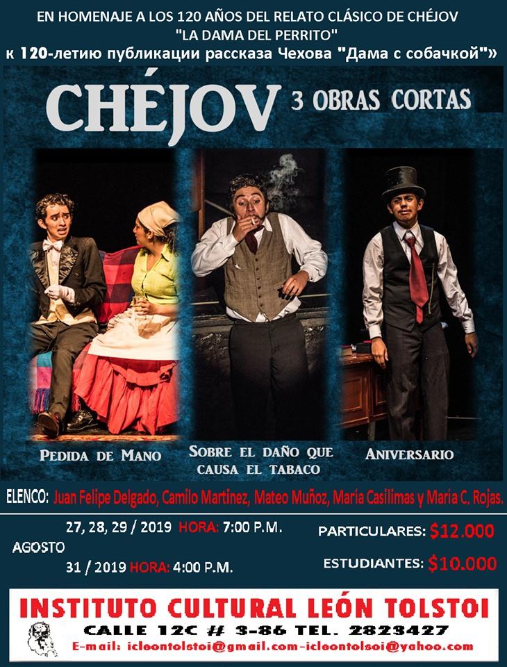 Tres piezas teatrales breves de Anton Chejov